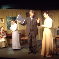 Vanda Hargen as Marina, Kathryn Girvan as Sonya, Trevor Butlin as Serebryakov and Gemma Owen as Yele