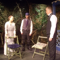 Kathryn Girvan as Sonya, Matthew Miller as Yefim and Richard Hulse as Dr Astrov