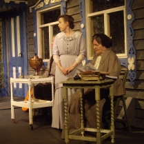 Chris Mapp as Telegin, Kathryn Girvan as Sonya and Hilary Egan as Maria